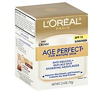 LOreal Age Perfect Day Cream for Mature Skin Sunscreen SPF 15 - 2.5 Oz