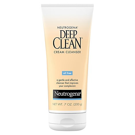 Neutrogena Deep Clean Cream Cleanser Oil Free - 7 Oz