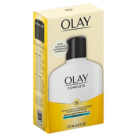 Olay Complete Moisturizer All Day with Sunscreen Sensitive SPF 15 - 6 Fl. Oz.