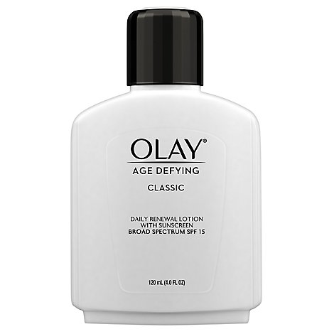 Olay Age Defying Renewal Lotion Protective with Sunscreen SPF 15 - 4 Fl. Oz.