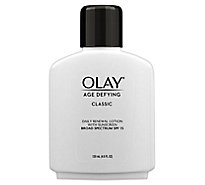 Olay Age Defying Renewal Lotion with Sunscreen SPF 15 Classic - 4 Fl. Oz.