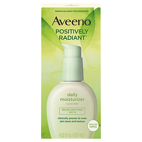 Aveeno Active Naturals Daily Moisturizer Positively Radiant with Sunscreen - 4 Oz