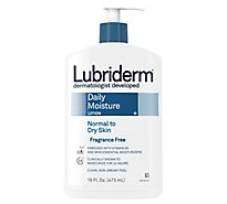Lubiderm Lotion Daily Moisture Normal To Dry Skin Fragrance Free - 16 Fl. Oz.