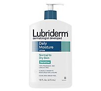 Lubiderm Lotion Daily Moisture Normal To Dry Skin Sensitive - 16 Fl. Oz.