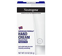 Neutrogena Norwegian Formula Hand Cream Fragrance Free - 2 Oz
