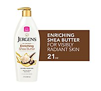 Jergens Lotion Moisturizer Shea Butter Deep Conditioning 3x More Radiant Skin - 21 Fl. Oz.