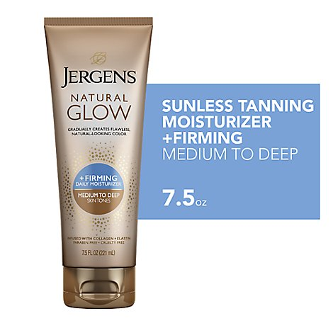 JERGENS Natural Glow Daily Moisturizer + Firming Medium To Tan Skin Tones - 7.5 Fl. Oz.