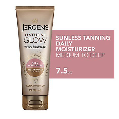 JERGENS Natural Glow Daily Moisturizer Medium To Tan Skin Tones - 7.5 Fl. Oz.