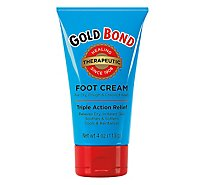 GOLD BOND Triple Action Therapeutic Foot Cream - 4 Oz