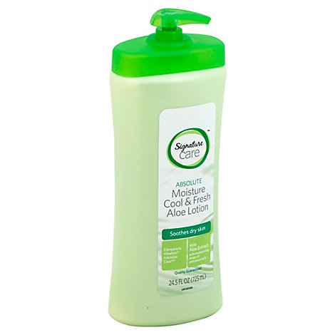Signature Care Lotion Aloe Moisture Cool & Fresh Soothes Dry Skin - 24.5 Fl. Oz.