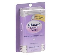 Johnsons Safety Swabs - 55 Count