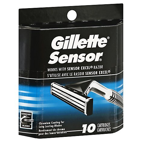 Gillette Sensor Cartridges - 10 Count