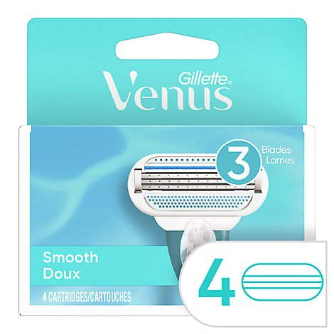 Gillette Venus Cartridges Smooth - 4 Count
