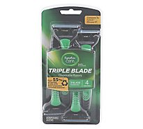 Signature Care Razor Disposable Triple Blade - 4 Count