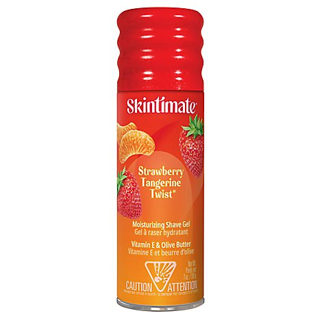 Skintimate Signature Scents Shave Gel Moisturizing Strawberry Tangerine Twist - 7 Oz
