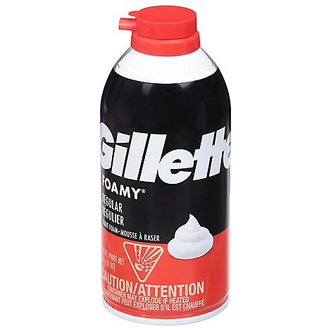Gillette Foamy Shave Foam Comfort Glide Regular - 11 Oz.