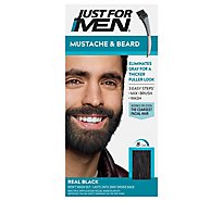 Just For Men Color Gel Brush-In Mustache & Bread Eliminates Gray Real Black M-55 - 2-0.5 Oz