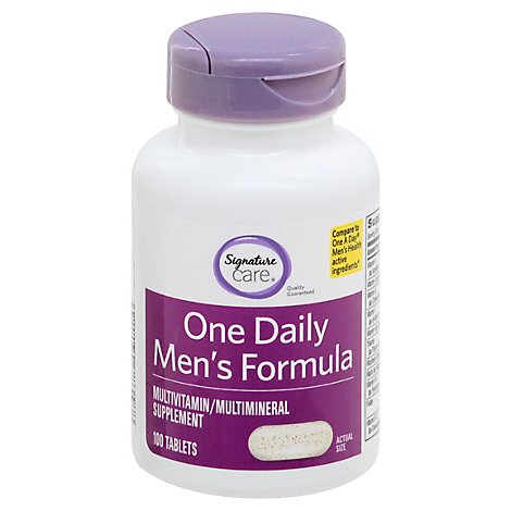 Signature Care One Daily Mens Formula Dietary Supplement Tablet - 100 Count