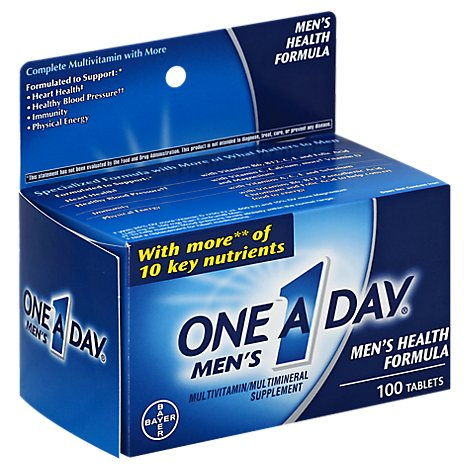 One A Day Mens Multivitamin/Multimineral Tablets Mens Health Formula - 100 Count