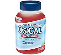 Os-Cal Calcium Supplement Calcium + D3 Coated Caplets - 160 Count