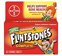 Flintstones Childrens Multivitamins Supplement Chewable Tablets Complete - 60 Count