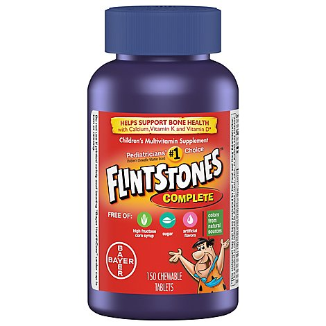 Flintstones Childrens Multivitamins Supplement Chewable Tablets Complete - 150 Count