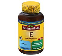 Nature Made Dietary Supplement Softgels Vitamin E 400 IU dl-alpha - 300 Count