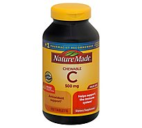 Nature Made Dietary Supplement Tablets Vitamin C Chewable 500 mg Orange - 150 Count