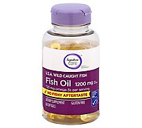 Signature Care Fish Oil 1200mg Omega 3 720mg Dietary Supplement Softgel - 60 Count