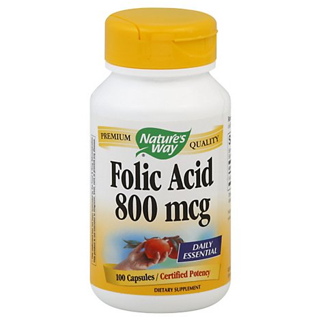 Natway Folic Acid 800mcg - 100 Count