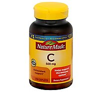 Nature Made Dietary Supplement Caplets Vitamin C 500 mg - 250 Count