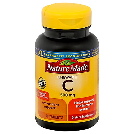 Nature Made Chewable Vitamin C 500 Milligrams - 60 Count