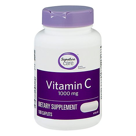 Signature Care Vitamin C 1000mg Dietary Supplement Tablet - 100 Count