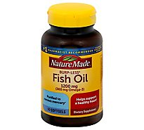 Nature Made Fish Oil Softgels 1200 mg Burp-Less - 60 Count