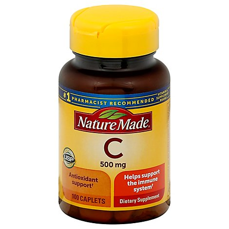 Nature Made Dietary Supplement Caplets Vitamin C 1000 mg - 100 Count