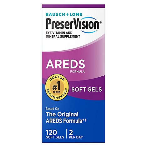 Bausch + Lomb Preservision Eye Vitamin & Mineral Supplement - 120 Count