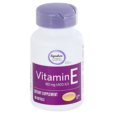 Signature Care Vitamin E 180mg Dietary Supplement Softgel - 100 Count