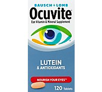 Ocuvite Eye Vitamin & Mineral Supplement Tablets with Lutein - 120 Count