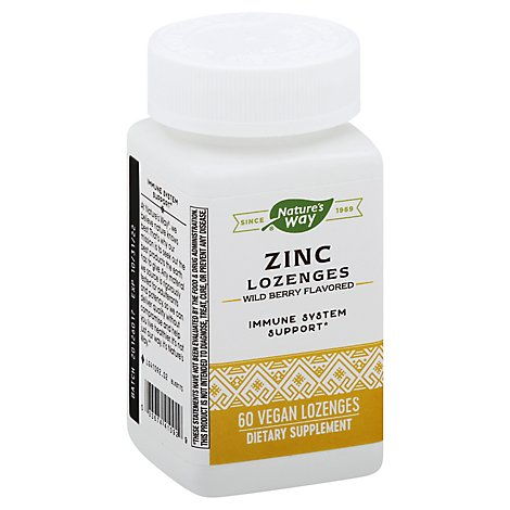 Natures Way Zinc Lozenges Berry - 60 Count