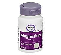 Signature Care Magnesium 250mg Dietary Supplement Tablet - 100 Count