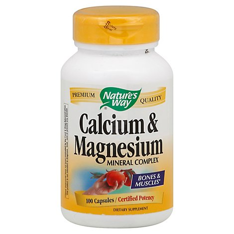 Natures Way Calcium & Magnesium - 100 Count
