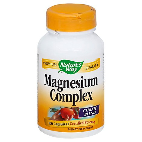 Natures Way Dietary Supplement Capsules Magnesium Complex - 100 Count