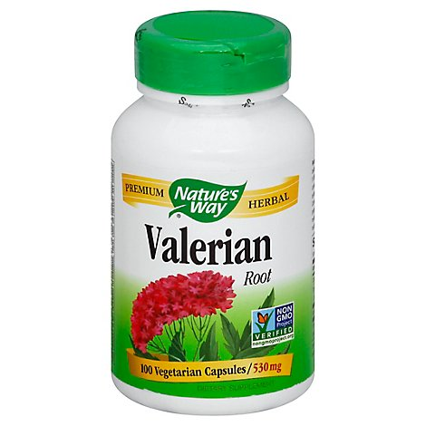 Natures Way Valerian Root 530 mg Capsules - 100 Count