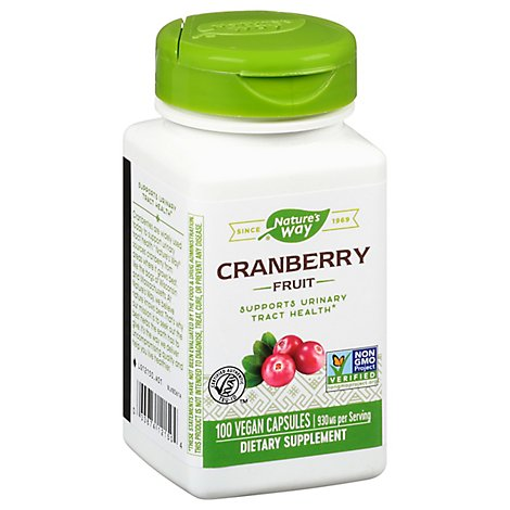 Natures Way Cranberry Fruit Certified 465 mg Capsules - 100 Count