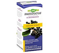 Natures Way Sambucus Immune Standardized Elderberry Syrup - 4 Oz