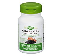 Natures Way Activated Charcoal Caps - 100 Count