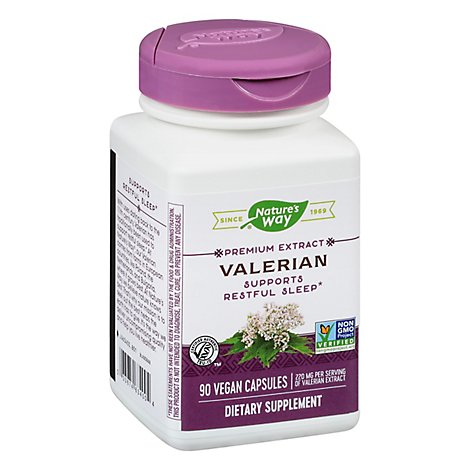 Natures Way Valerian Standardized Capsules - 90 Count