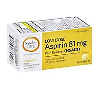 Signature Care Low Dose Aspirin Tablets - 120 Count