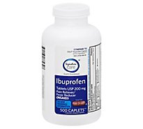Signature Care Ibuprofen Pain Reliever Fever Reducer USP 200mg NSAID Caplet - 500 Count