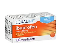 Signature Care Ibuprofen Pain Reliever Fever Reducer USP 200mg NSAID Tablet Blue - 100 Count